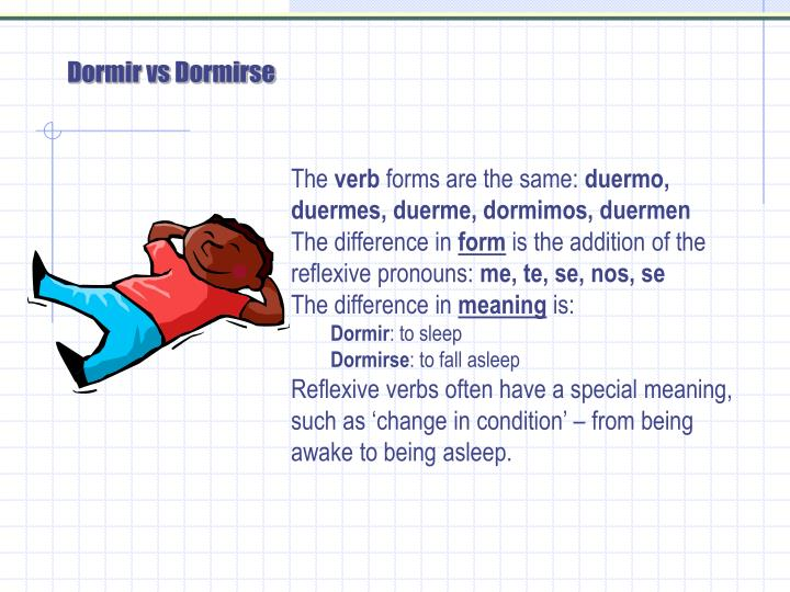 Dormir vs Dormirse