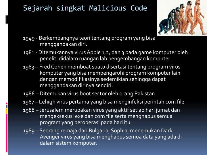 Sejarah singkat Malicious Code