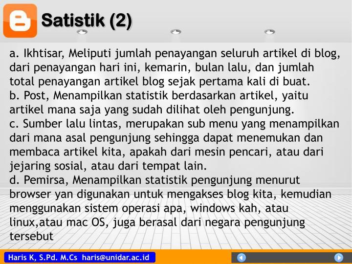 Satistik