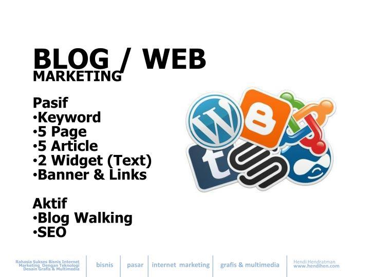 BLOG / WEB