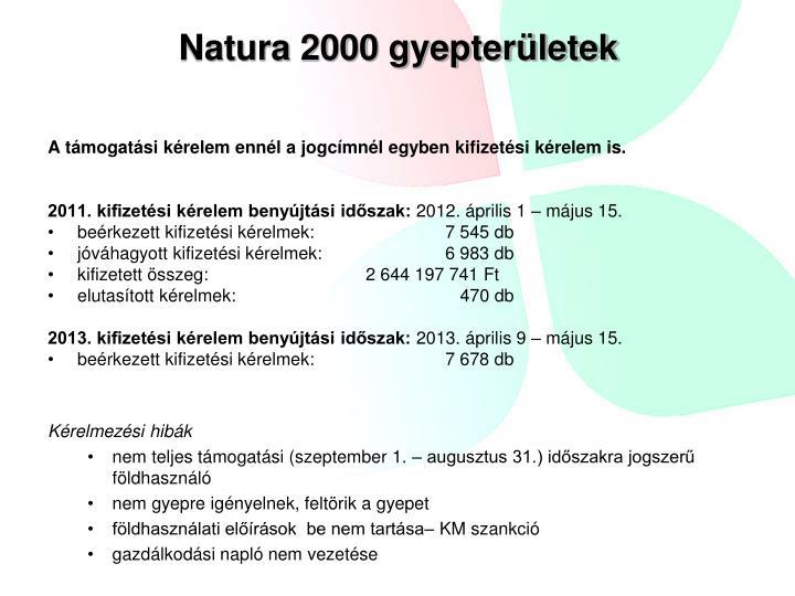 Natura 2000 gyepterületek