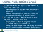 enhancing multiple ecosystem services