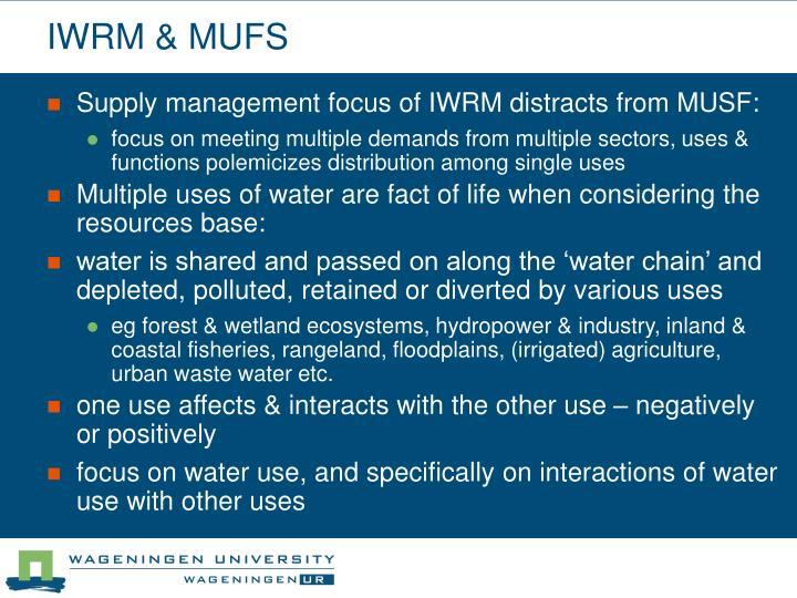 IWRM & MUFS