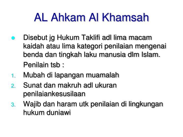 AL Ahkam Al Khamsah
