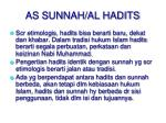 as sunnah al hadits