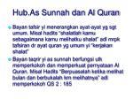 hub as sunnah dan al quran