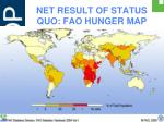 net result of status quo fao hunger map