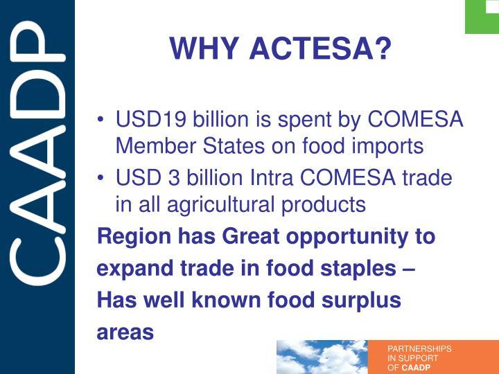 WHY ACTESA?