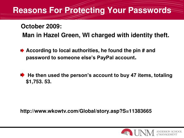 Reasons For Protecting Your Passwords
