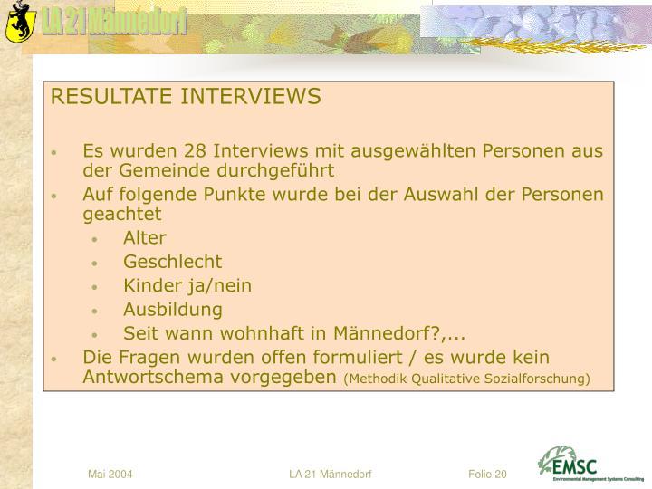 RESULTATE INTERVIEWS