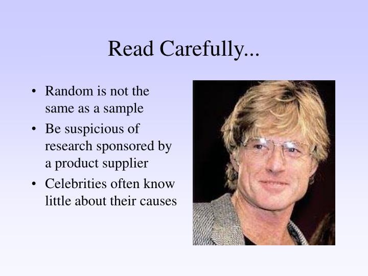 Read Carefully...