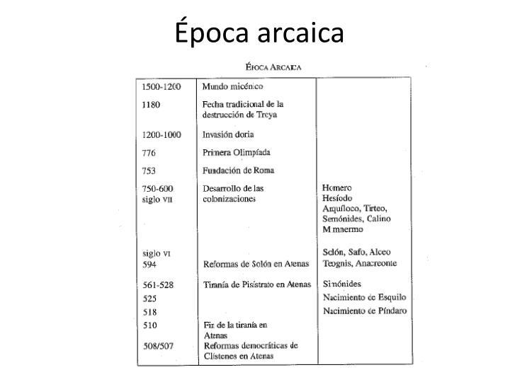 Época arcaica