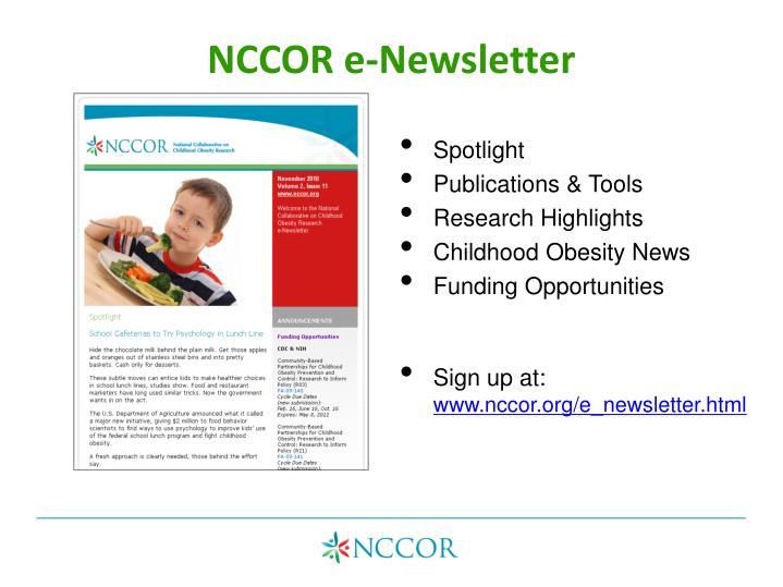 NCCOR e-Newsletter
