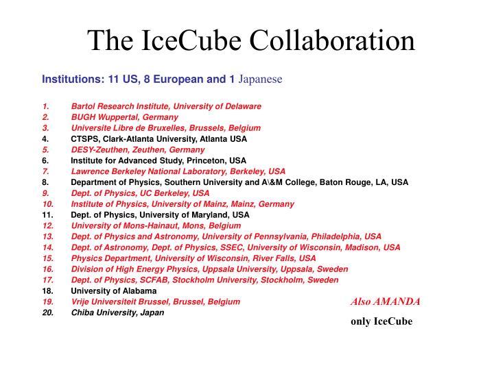 The IceCube Collaboration