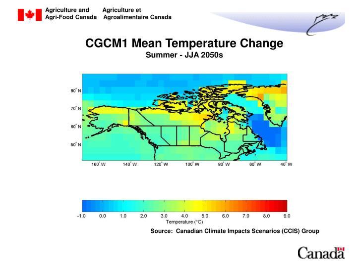 CGCM1 Mean Temperature Change