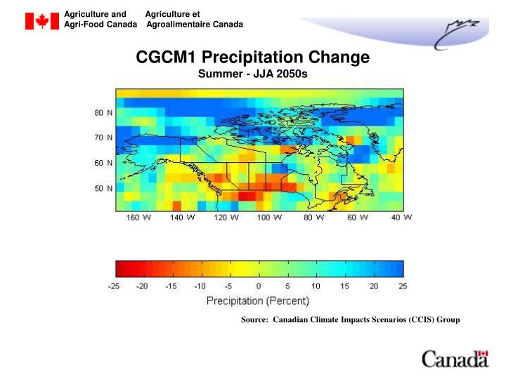 CGCM1 Precipitation Change