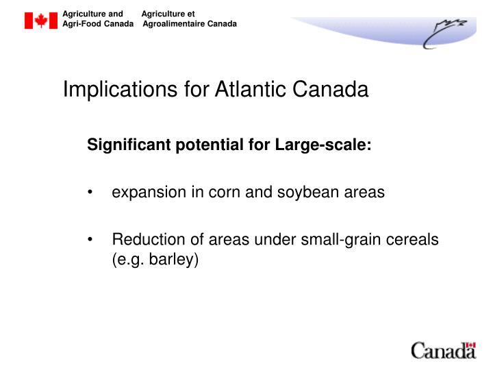 Implications for Atlantic Canada