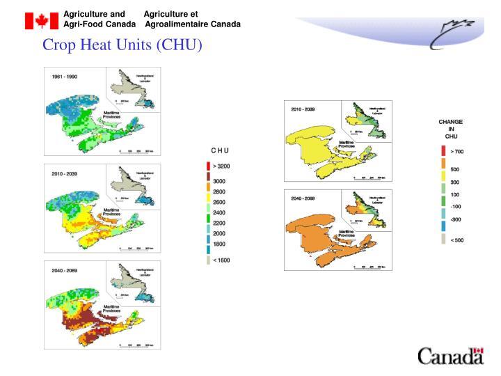 Crop Heat Units (CHU)