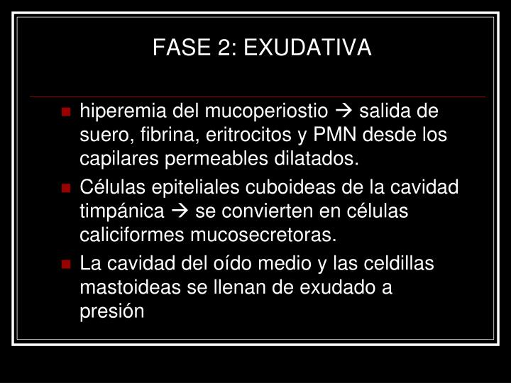 FASE 2: EXUDATIVA