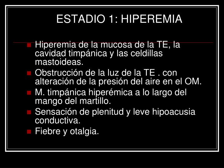 ESTADIO 1: HIPEREMIA