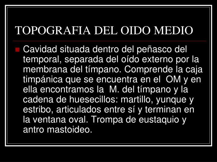 TOPOGRAFIA DEL OIDO MEDIO