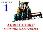 agriculture economics and policy