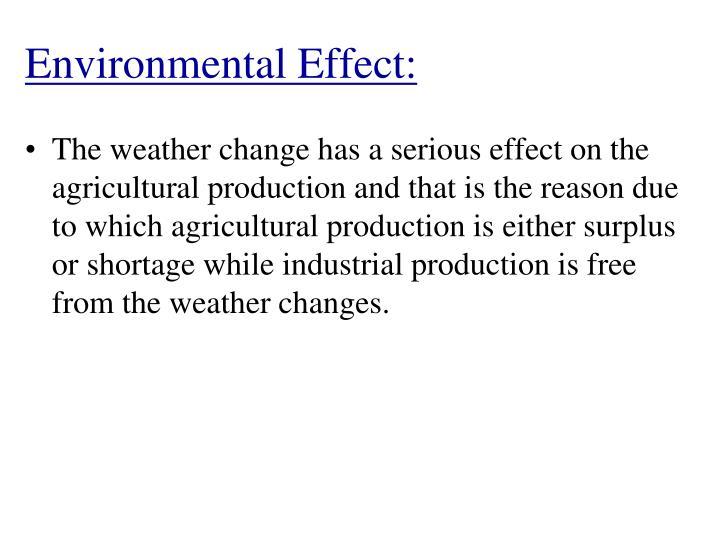 Environmental Effect: