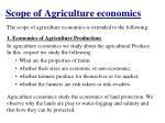 scope of agriculture economics