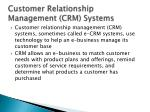 customer relationship management crm systems