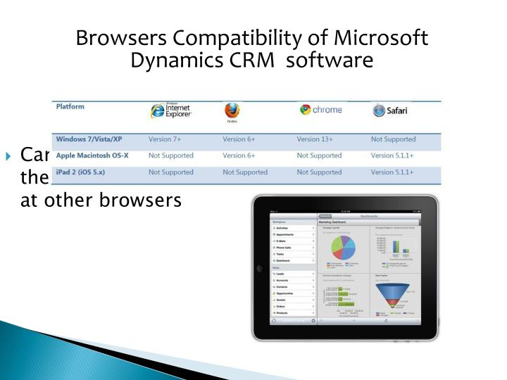 Browsers Compatibility of Microsoft Dynamics CRM  software