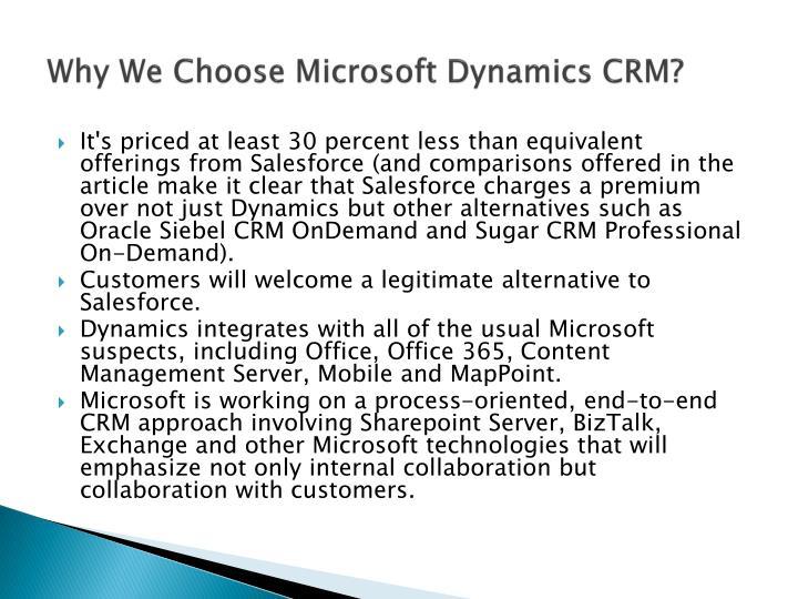 Why We Choose Microsoft Dynamics CRM?