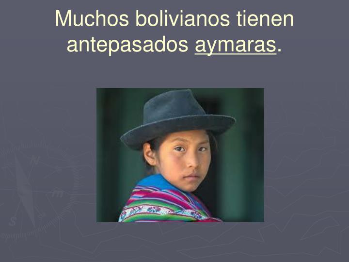 Muchos bolivianos tienen antepasados