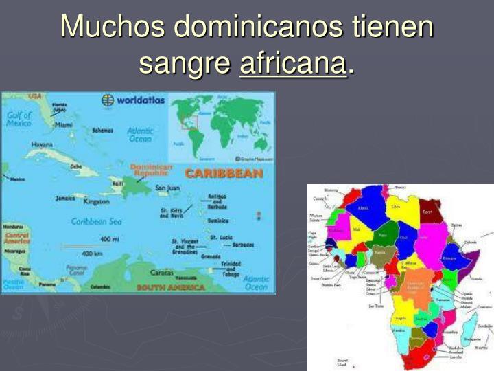 Muchos dominicanos tienen sangre