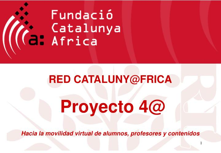 RED CATALUNY@FRICA
