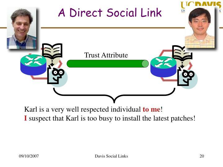 A Direct Social Link