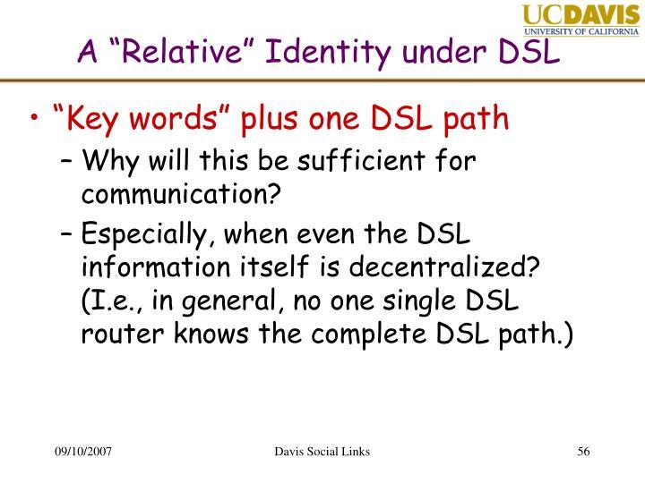 "A ""Relative"" Identity under DSL"