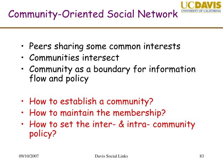 Community-Oriented Social Network