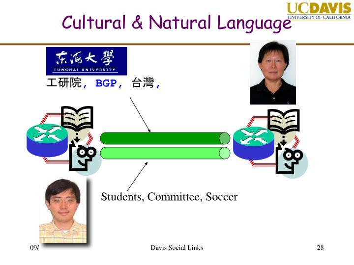 Cultural & Natural Language