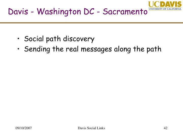 Davis - Washington DC - Sacramento