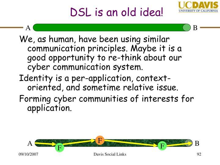DSL is an old idea!