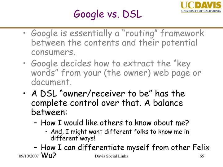 Google vs. DSL