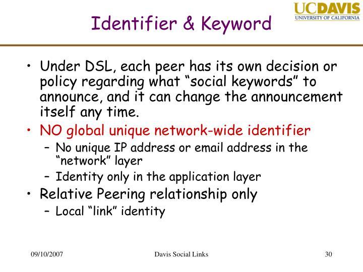 Identifier & Keyword