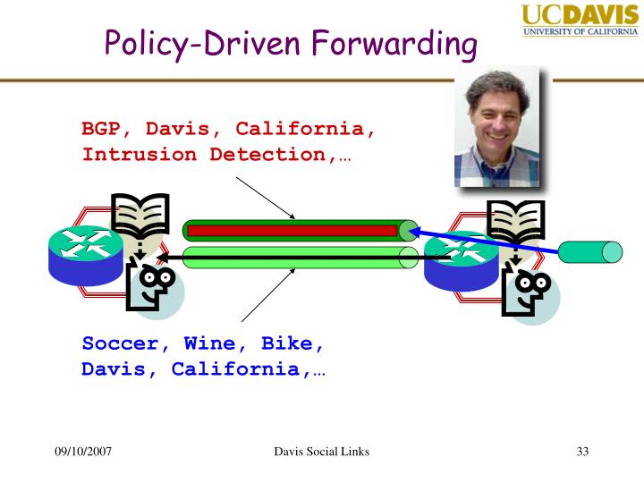 Policy-Driven Forwarding