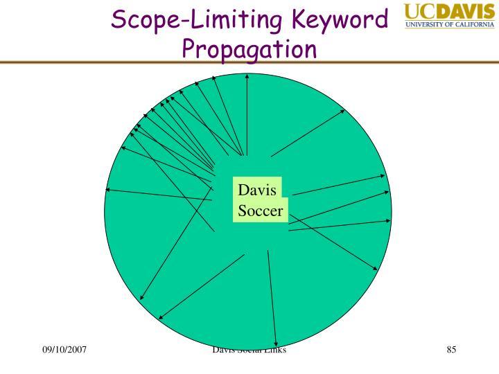 Scope-Limiting Keyword Propagation