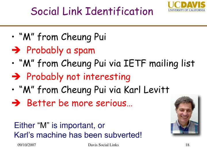 Social Link Identification