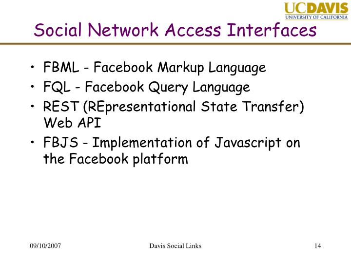 Social Network Access Interfaces