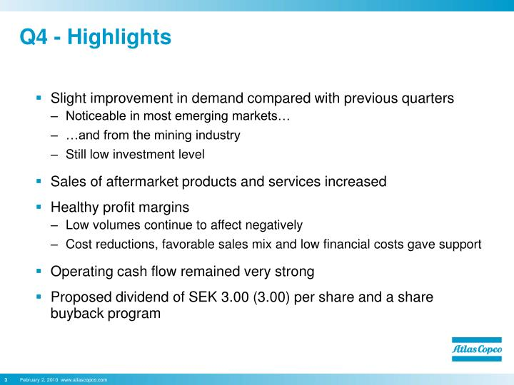 Q4 highlights