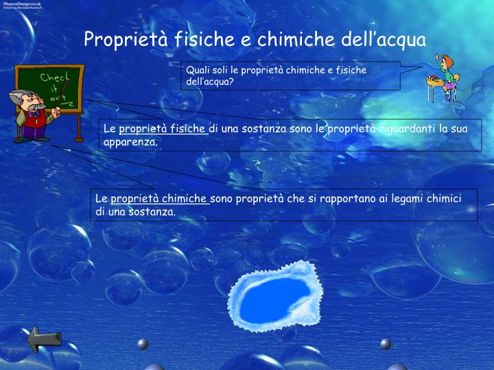 Proprietà fisiche e chimiche dell'acqua