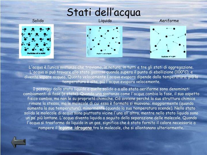 Stati dell'acqua