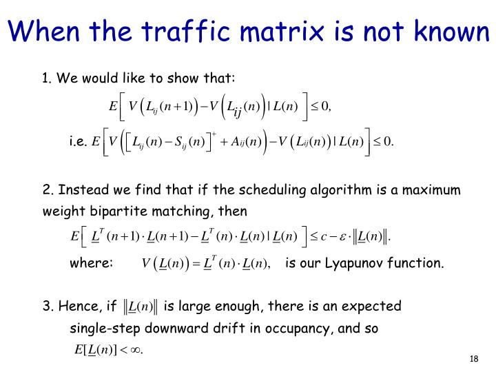 When the traffic matrix is not known